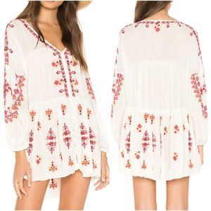 Free People Revolve Arianna Tunic Top in Ivory